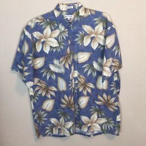 Men's Pierre Cardin Cotton Tropical Hawaiian Shirt